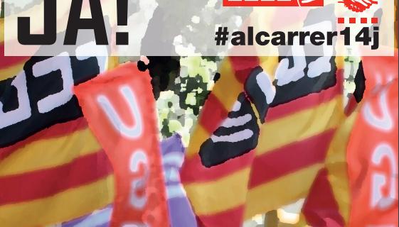 14 de juny, mobilització. Increments salarials als convenis col·lectius, ja! #alcarrer14j