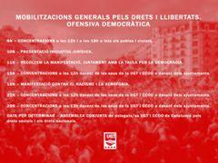 Mobilitzacions generals pels drets i les llibertats. Ofensiva democràtica
