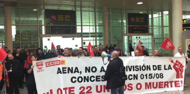 UGT y CCOO convocan nuevas movilizaciones y huelgas en los servicios de hostelería de los aeropuertos