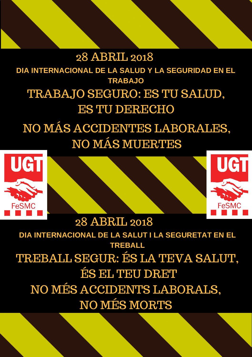 28 d'abril del Dia Internacional de la Salut i la Seguretat en el Treball