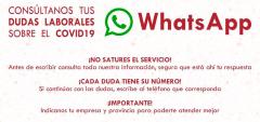 RUGE y UGT amplían el servicio de consulta por Whatsapp