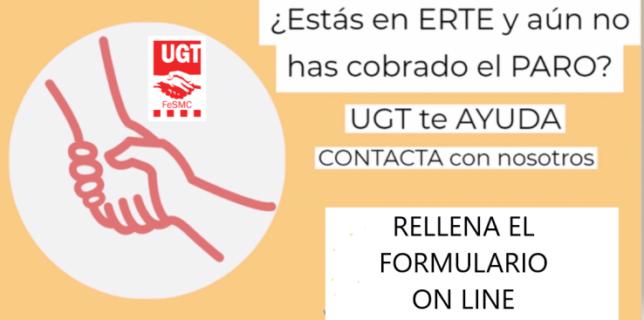 UGT habilita un formulario online para reclamar el cobro de tu ERTE