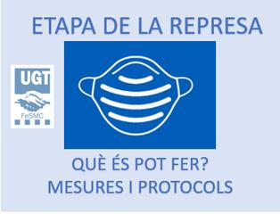 Consulta aquí la informació sobre la nova represa d'activitats. Recull de normatives i protocols.