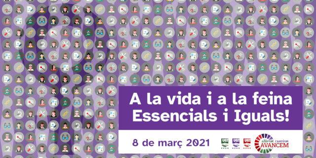 8M: A la vida i a la feina, essencials i iguals