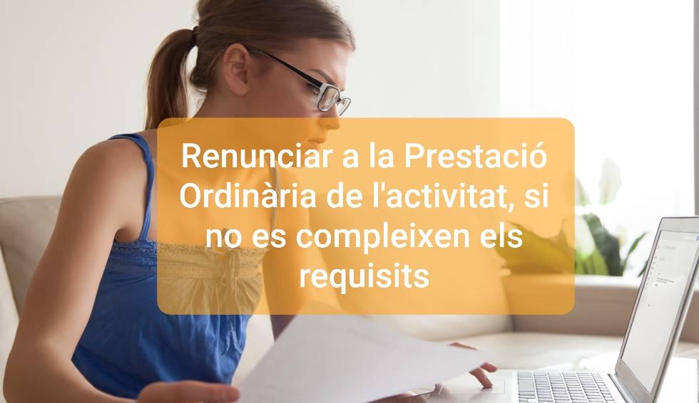 PRESTACIÓ ORDINARIA ACTIVITAT