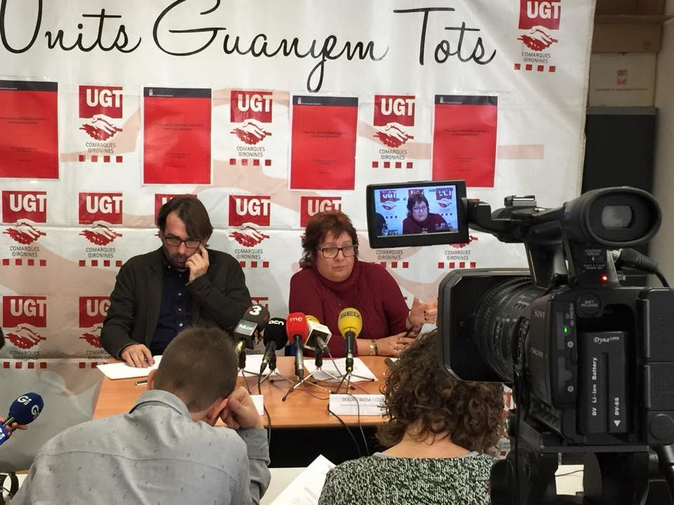 "Roda de premsa ""3 anys de reforma laboral a Girona"""