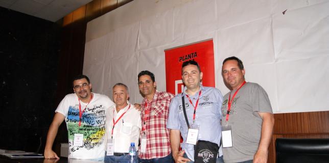 D'esquerra a dreta: Juan Jose Lucena, Buenaventura Baca, Valentín Pérez, Aitor Castillo i Pedro Fabián.