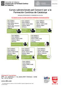 Cursos finançats pel Consorci  per a la  Formació Contínua de