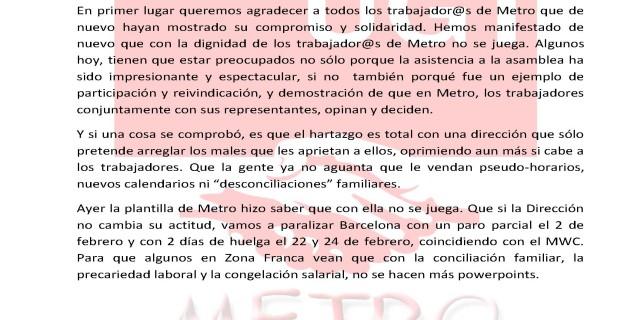 Información Asamblea de trabajadores 14-1-16
