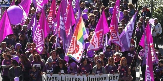 #8M #Tarragona en imatges: manifestació UGT – CCOO