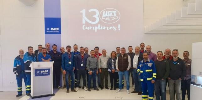 Visita de Pepe Álvarez a la planta de BASF de Tarragona