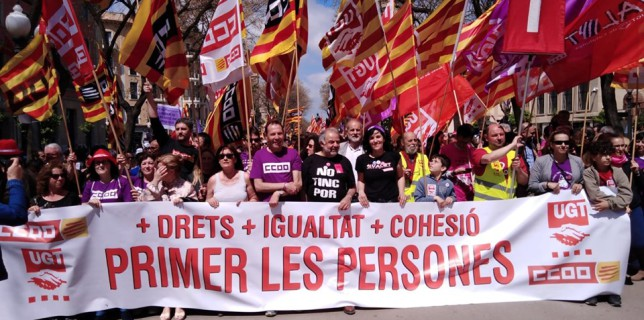 Recull d'imatges: Manifestació 1 de Maig #Tarragona #1M