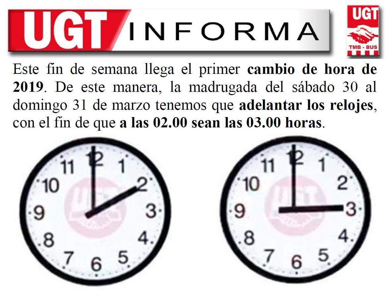 Cambio de hora V19