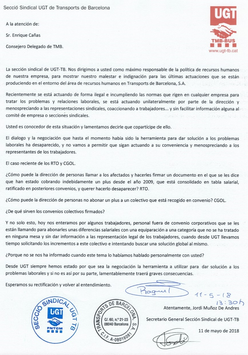 Carta Enric Cañas 11-05-2018