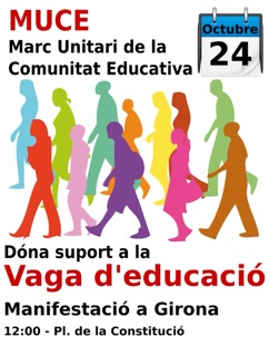Manifestació vaga 24 octubre