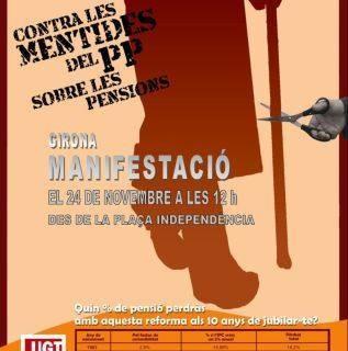 24 novembre, manifestació contra les mentides del PP sobre les pensions
