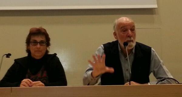 """Mon Marquès i Roser Font presentant la pel·lícula """"Las Maestras de la República"""" a la @univgirona"""